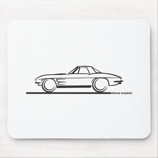 Pastinaca 1963 del Corvette Hardtop Alfombrillas De Ratón