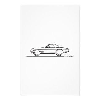 Pastinaca 1963 del Corvette Hardtop Papelería De Diseño