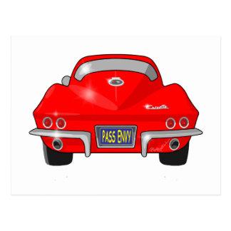 Pastinaca 1964 de Chevrolet Corvette Postales