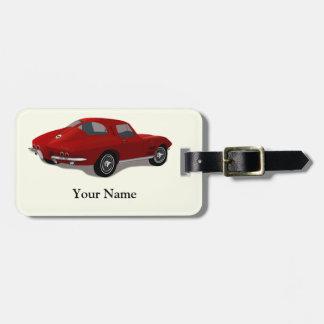 Pastinaca del Corvette de 1963 rojos Etiquetas Maleta