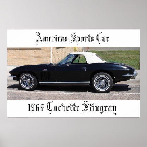 Pastinaca del Corvette de los deportes Car-1966 de Impresiones