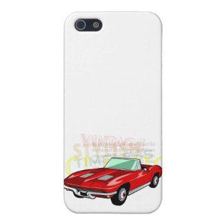 Pastinaca del Corvette o coche de deportes roja de iPhone 5 Protector