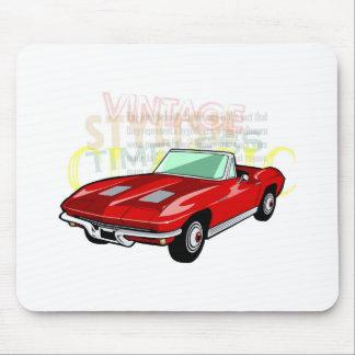 Pastinaca del Corvette o coche de deportes roja de Alfombrilla De Ratón