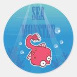 Pastinaca del monstruo de mar pegatinas redondas