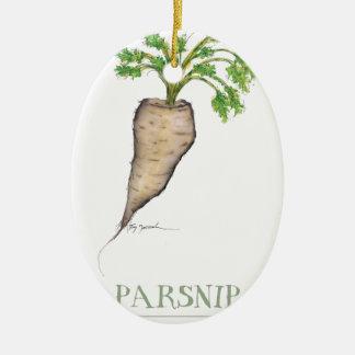 pastinaca, fernandes tony adorno navideño ovalado de cerámica