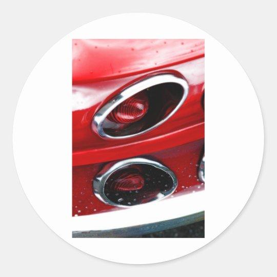 Pastinaca roja del Corvette Pegatina Redonda