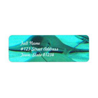 Pastinacas en etiquetas de correo del suelo marino etiquetas de remite