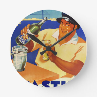 Pastis Olive - Comme a Marseille Round Wallclock
