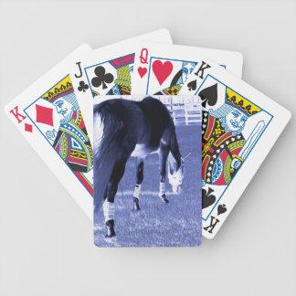 pasto azul del caballo en imagen equina baraja cartas de poker