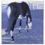 pasto azul del caballo en imagen equina servilleta de papel