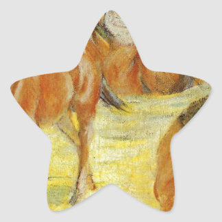Pasto de caballos de Franz Marc Pegatina En Forma De Estrella