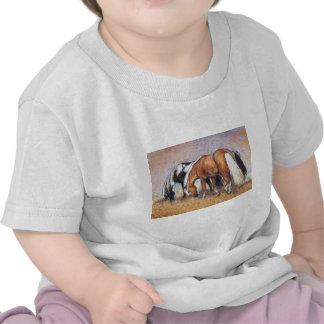Pasto de caballos camiseta