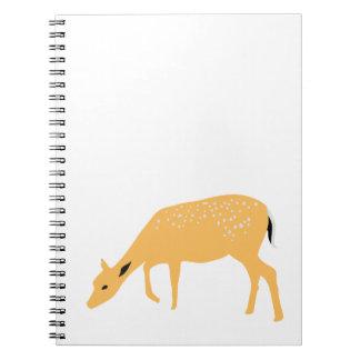 Pasto de ciervos libreta espiral