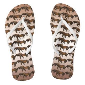 Pasto de flips-flopes del animal de los caballos
