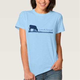 Pasto de la camiseta de Lasa de la vaca Playera