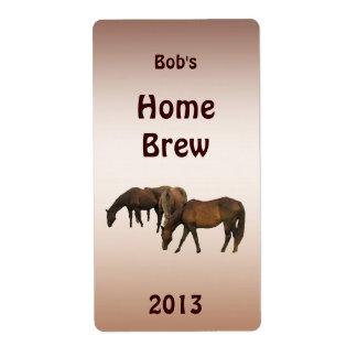 Pasto de la etiqueta de la cerveza de los caballos etiqueta de envío