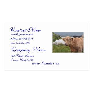 Pasto de la vaca de la montaña plantilla de tarjeta de negocio