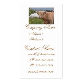 Pasto de la vaca de la montaña plantillas de tarjeta de negocio