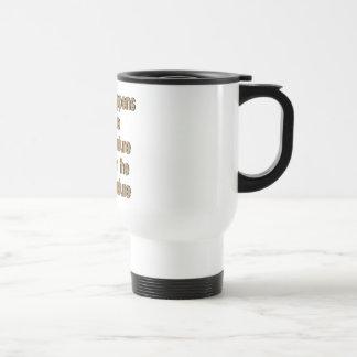 Pasto de la vaca taza de café