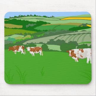 Pasto de vacas tapetes de raton
