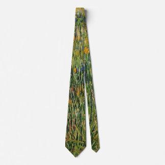 Pasto de Van Gogh en la floración, bella arte de Corbata