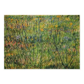 Pasto de Van Gogh en la floración, impresionismo Invitación 12,7 X 17,8 Cm