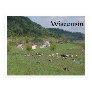 Pasto de Wisconsin Tarjeta Postal