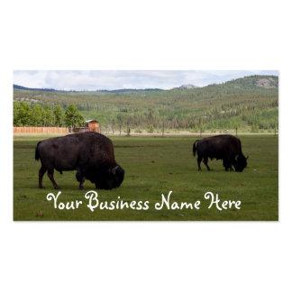 Pasto del bisonte de madera; Promocional Tarjetas De Visita