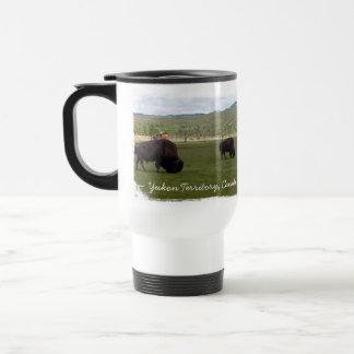 Pasto del bisonte de madera; Recuerdo del territor Tazas