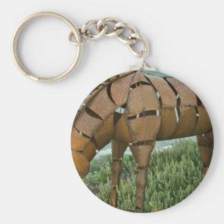 Pasto del caballo de hierro llaveros