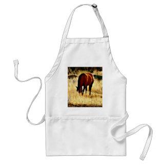 Pasto del caballo delantal