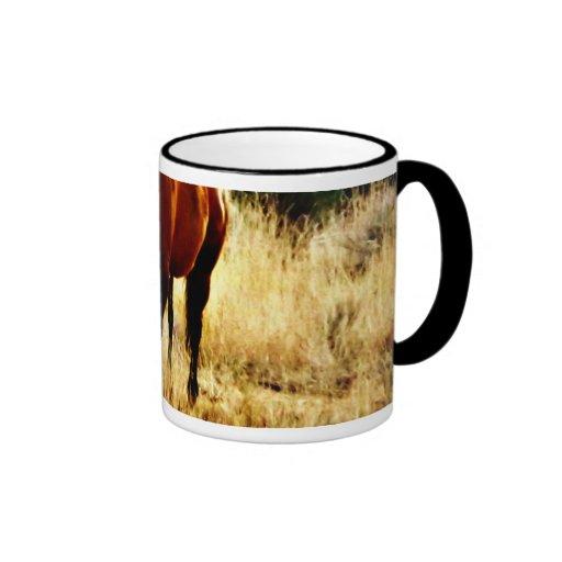 Pasto del caballo taza de dos colores