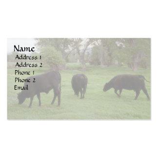 Pasto del ganado v1 tarjeta de visita