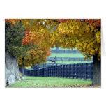Pasto del otoño tarjetón