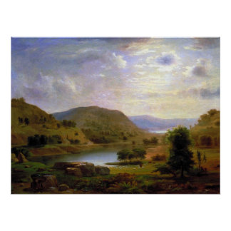 Pasto del valle por Duncanson Póster