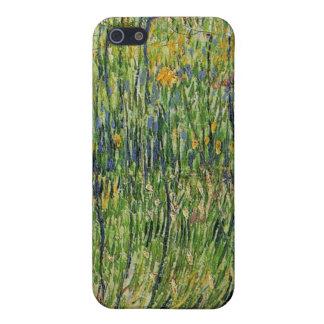 Pasto en la floración de Vincent van Gogh iPhone 5 Carcasas