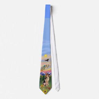 Pastor alemán 1 en país de la montaña corbatas personalizadas