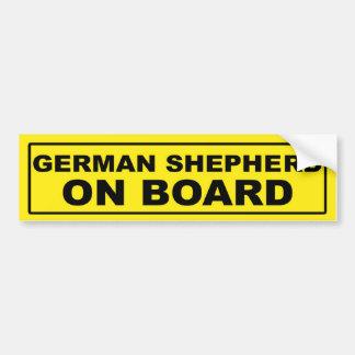 Pastor alemán a bordo pegatina de parachoque