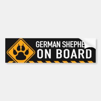 Pastor alemán a bordo pegatina para auto