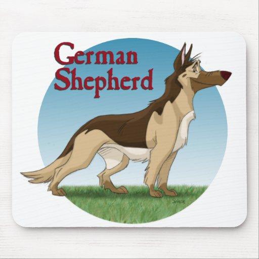 Pastor alemán alfombrillas de ratones