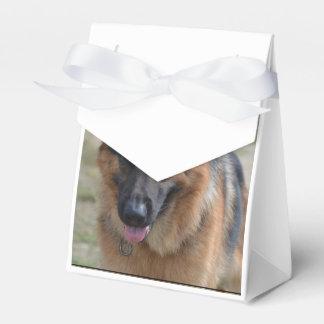Pastor alemán asombroso cajas para detalles de boda
