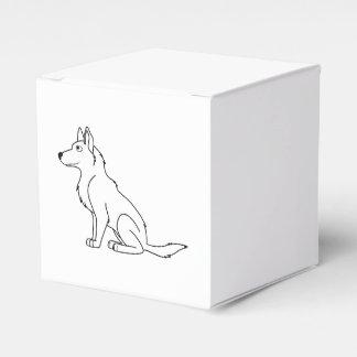 Pastor alemán blanco cajas para detalles de boda