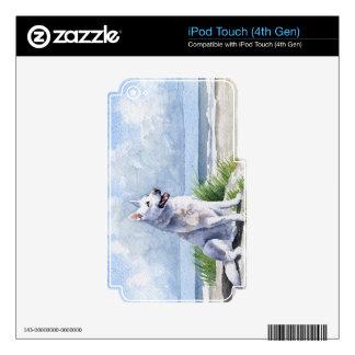 Pastor alemán blanco iPod touch 4G skin