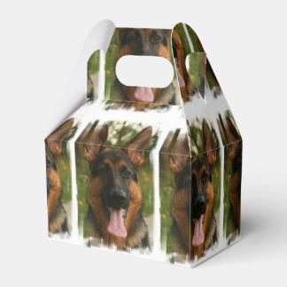 Pastor alemán cajas para regalos de boda
