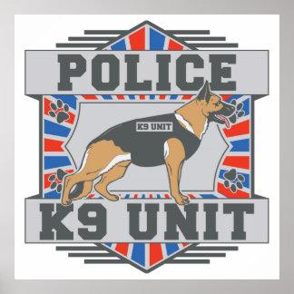 Pastor alemán de la policía de la unidad K9 Póster