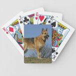 Pastor alemán de pelo largo 2 de Brown Baraja Cartas De Poker