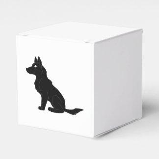 Pastor alemán negro caja para regalo de boda