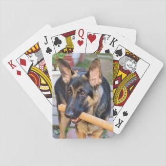 Pastor alemán cartas de juego