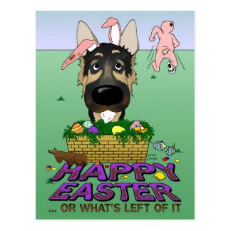 Pastor alemán Pascua feliz Postales