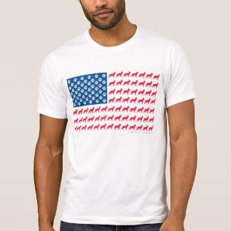 Pastor alemán patriótico camiseta